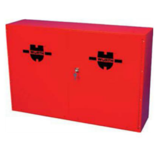 955.9 Aerosol Cabinet with Lock / Red