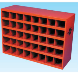 "966.13 12"" Deep 40 Compartment Bin Red"