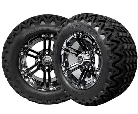 A19-001AT-Golf-Cart-12-inch-x-7-Nitro-Rim-Black-Wheel-with-All-Terrain-Predator-Tire-23-10.5-12-cartguy-madjax-ontario-canada