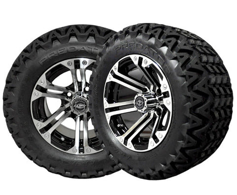 A19-002AT-Golf-Cart-12-inch-Nitro-Rim-Machined-Black-Wheel-with-All-Terrain-Predator-Tire-cartguy-madjax-ontario-c