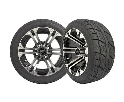 A19-002LP-Golf-Cart-12-inch-Nitro-Rim-Machined-Black-Wheel-with-Low-Profile-Street-Viper-Tire-cartguy-madjax-ontario-canada