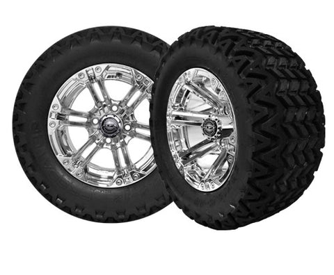 A19-003AT-Golf-Cart-12-inch-x-7-Nitro-Rim-Chrome-Wheel-with-All-Terrain-Predator-Tire-23-10.5-12-cartguy-madjax-ontario-canada