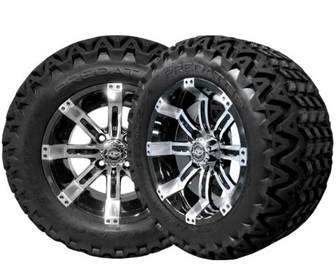 A19-008AT-Golf-Cart-12-inch-Octane-Rim-Black-Wheel-with-All Terrain-Predator-Tire-cartguy-madjax-ontario-canada