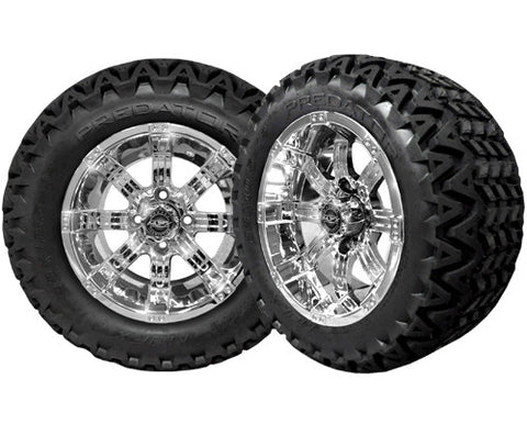 A19-009AT-Golf-Cart-12-inch-Octane-Rim-Chrome-Wheel-with-All-Terrain-Predator-Tire-Tire-cartguy-madjax-ontario-canada