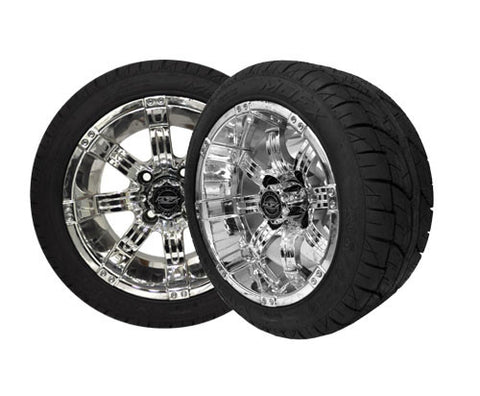 A19-009LP-Golf-Cart-12-inch-Octane-Rim-Chrome-Wheel-with-Low-Profile-Street-Viper-Tire-cartguy-madjax-ontario-canada