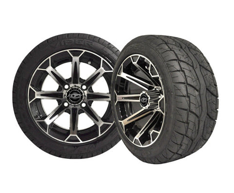 A19-012LP-Golf-Cart-12-inch-Vortex-Rim-Machined-Black-Wheel-with-Low-Profile-Street-Viper-Tire-cartguy-madjax-ontario-canada