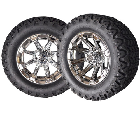 A19-013AT-Golf-Cart-12-inch-x-7-Vortex-Rim-Chrome--Wheel-with-All-Terrain-Predator-Tire-23-10.5-12-cartguy-madjax-ontario-canada
