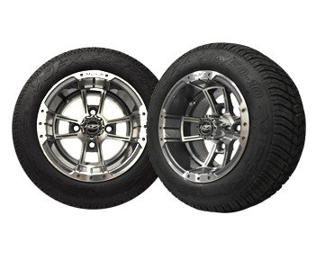 A19-024LP-Golf-Cart-10-inch-Rim-Machined-Gunmetal-Grey-Wheel-with-Low-Profile-Street-Tire-Apex-cartguy-madjax-ontario-canada