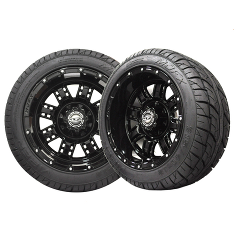 A19-027LP-Golf-Cart-12-inch-Transformer-Rim-Black-Wheel-with-Low-Profile-Street-Viper-Tire-cartguy-madjax-ontario-canada