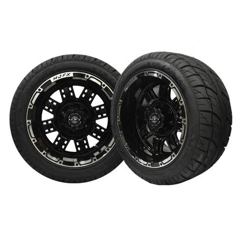 A19-028LP-Golf-Cart-12-inch-Transformer-Rim-Machined-Black-Wheel-with-Low-Profile-Street-Viper-Tire-cartguy-madjax-ontario-canada