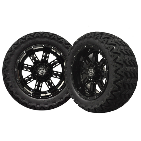A19-031AT-Golf-Cart-Transformer-14-x-7-inch-rim-Black-Wheel-with-Predator-All-Terrain-cartguy-madjax-ontario-canada
