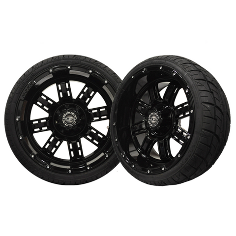 A19-031LP-Golf-Cart-Transformer-14-x-7-inch-rim-Black-Wheel-with-Viper-Street-Tire-205-30-14-cartguy-madjax-ontario-canada