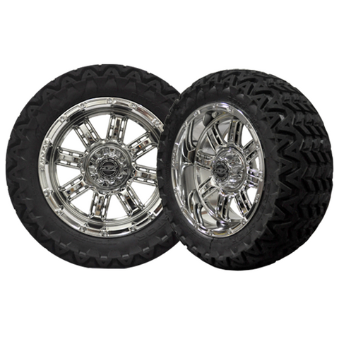 A19-033AT-Golf-Cart-Transformer-14-x-7-inch-rim-Chrome-Wheel-with-Predator-All-Terrain-23-inch-Tire-cartguy-madjax-ontario-c