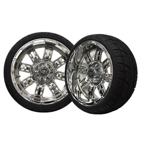 A19-033LP-Golf-Cart-Transformer-14-x-7-inch-rim-Chrome-Wheel-with-Viper-Street-Tire-205-30-14-cartguy-madjax-ontario-canada