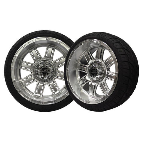 A19-038LP-Golf-Cart-Transformer-14-x-7-inch-rim-High-Gloss-Silver-Wheel-with-Viper-Street-Tire-205-30-14-cartguy-madjax-ontario-canada