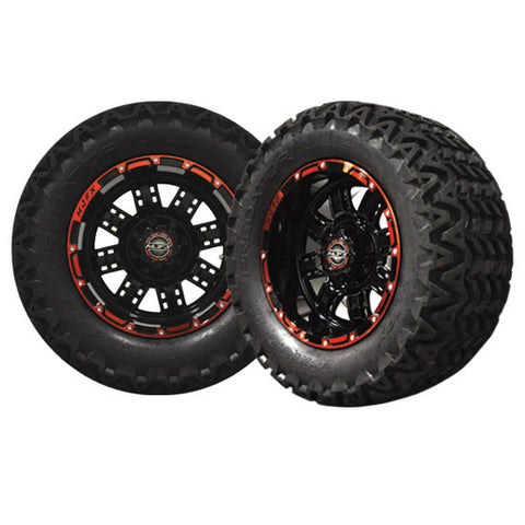 A19-039AT-Golf-Cart-12-inch-Transformer-Black-Red-Wheel-All-Terrain-Predator-Tire-cartguy-madjax-ontario-canada