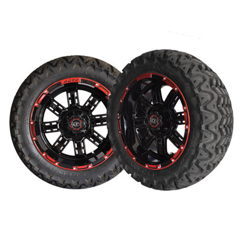 A19-040AT-Golf-Cart-Transformer-14-x-7-inch-rim-black-red-with-Predator-All-Terrain-Tire-23-10-14-cartguy-madjax-ontario-canada