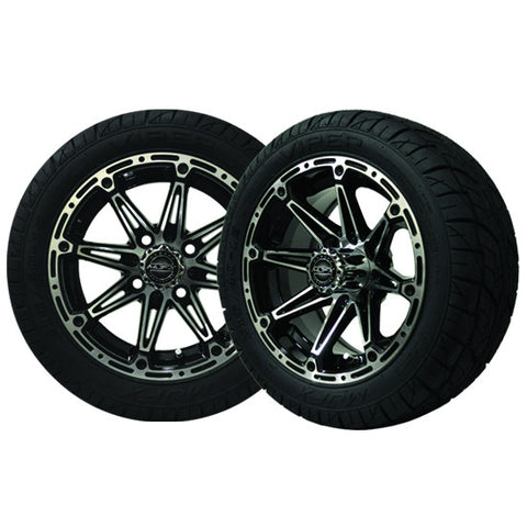 A19-053LP-Golf-Cart-12-inch-Element-Machined-Black-Wheel-Low-Profile-Viper-Street-Tire-cartguy-madjax-ontario-canada