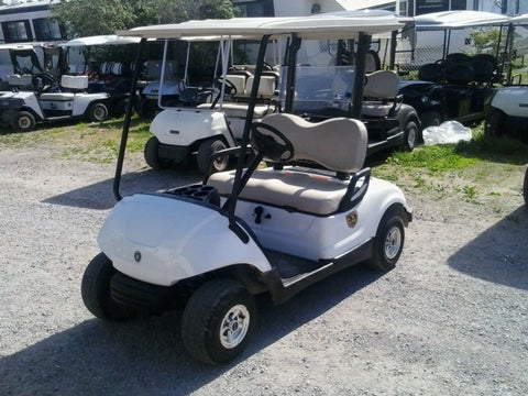 White 2013 Yamaha Drive Gas Golf Cart