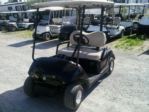 Our newest arrivals! Black 2010/2011 Yamaha Drive Gas Golf Carts