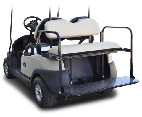 K01-029-2-Golf-Cart-Rear-Flip-Back-Seat-Club-Car-Precedent-Aluminum-with-white-cushion-cartguy.ca-madjax-ontario-canada-2