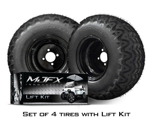 Set Of All Terrain Tires Paired With Lift Kit Cartguy Ca Golf Cart