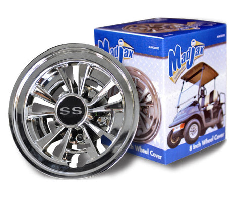 MJWC8003-Golf-Cart-8-inch-10-Spoke-Chrome-Wheel-Cover-Hub-Cap-cartguy-madjax-ontario-canada
