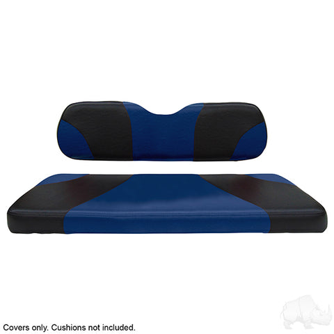 Sport Black/Blue Two-Tone Rear Seat Covers