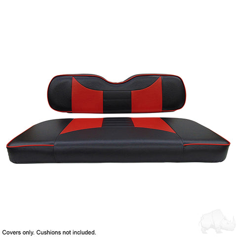 Rally Black/Red Two-Tone Rear Seat Covers