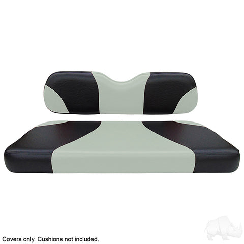Sport Black/Silver Two-Tone Rear Seat Covers