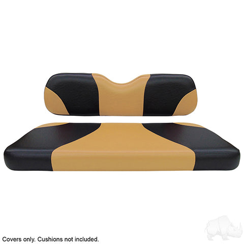 Sport Black/Tan Two-Tone Rear Seat Covers