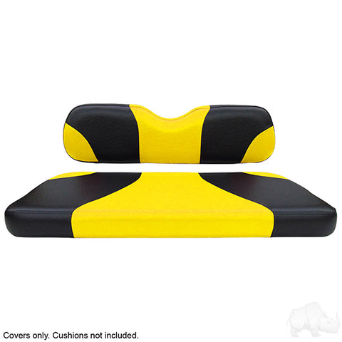 Sport Black/Yellow Two-Tone Rear Seat Covers