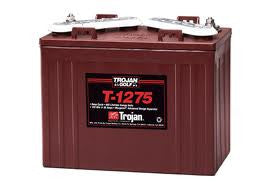 Trojan T 1275 Deep Cycle 12V Golf Cart, Marine, RV, Solar Battery
