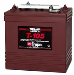 T105 Trojan Deep Cycle Battery Golf Cart 6V -1