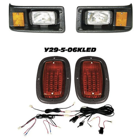 Y29-5-06KLED Light Kit with Black Bezel - Head Lights & Tail Lights - Yamaha G2, G9