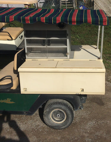 2002 EZGO REFRESHER BEVERAGE CART.