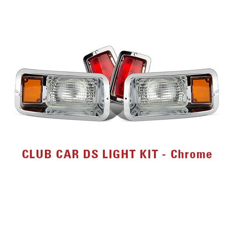 Now available! chrome light kit for Club Car DS