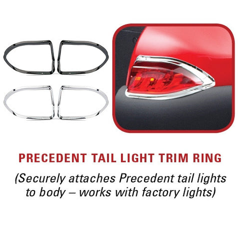 precedent chrome taillight trim rings.