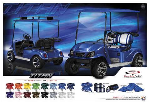 EZGO TXT Titan body kit available in 16 colours