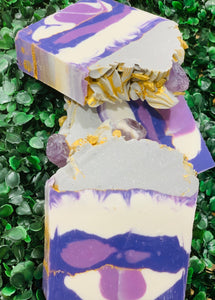 Lavender Amethyst Stone High Top Soap