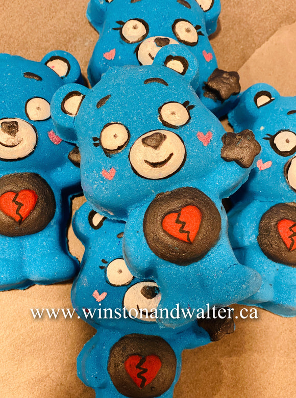 Broken Heart Blue Bear