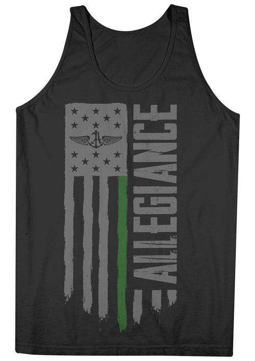 Alle. Freedom Green Line Tank Top