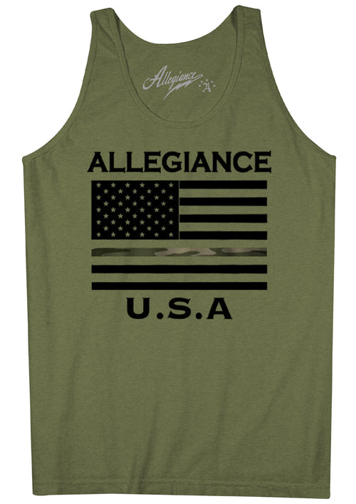 Alle. USA Camo Flag Tank Top