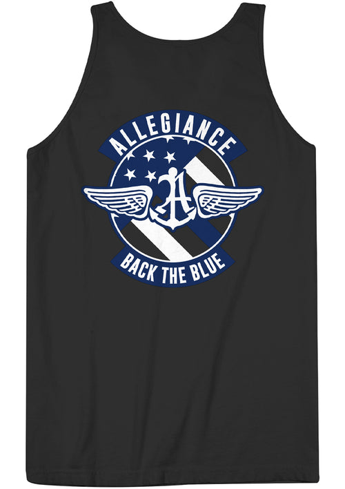 Alle. Back The Blue Badge Back Hit Tank Top