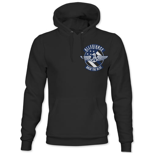 Alle. Back The Blue Badge Back Hit Hoodie