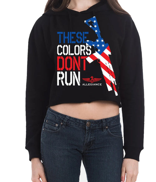 Don't Run Cropped Hoodie