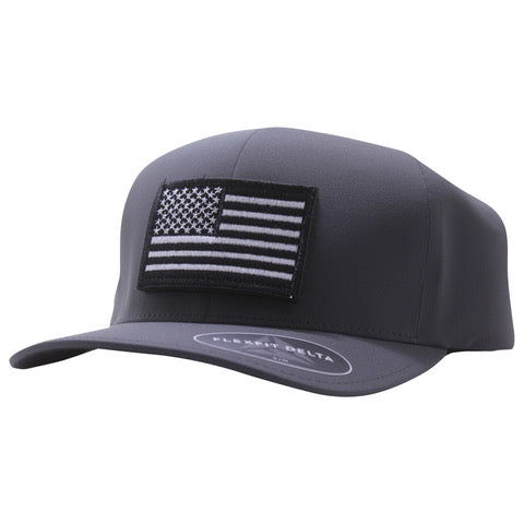White And Black Flag Hat Delta FlexFit