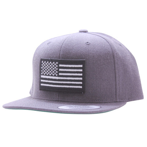 White And Black Flag Snapback