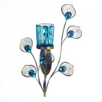 Peacock Inspired Single Sconce