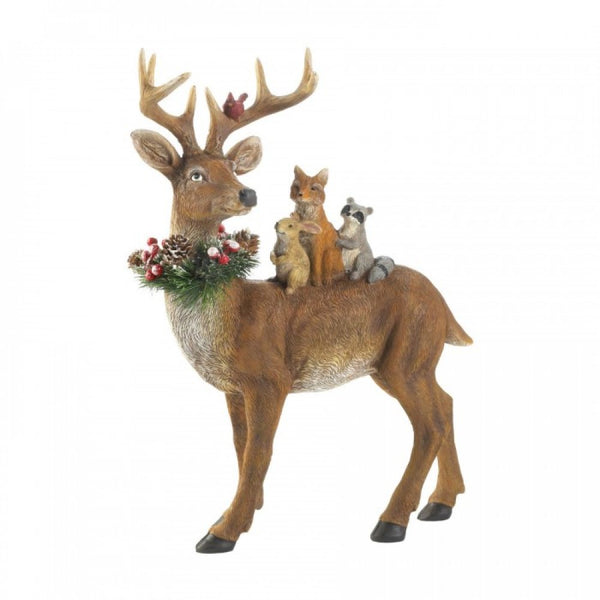 Standing Woodland Reindeer Decor
